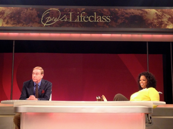 Oprah and Gary Chapman…after the show taped