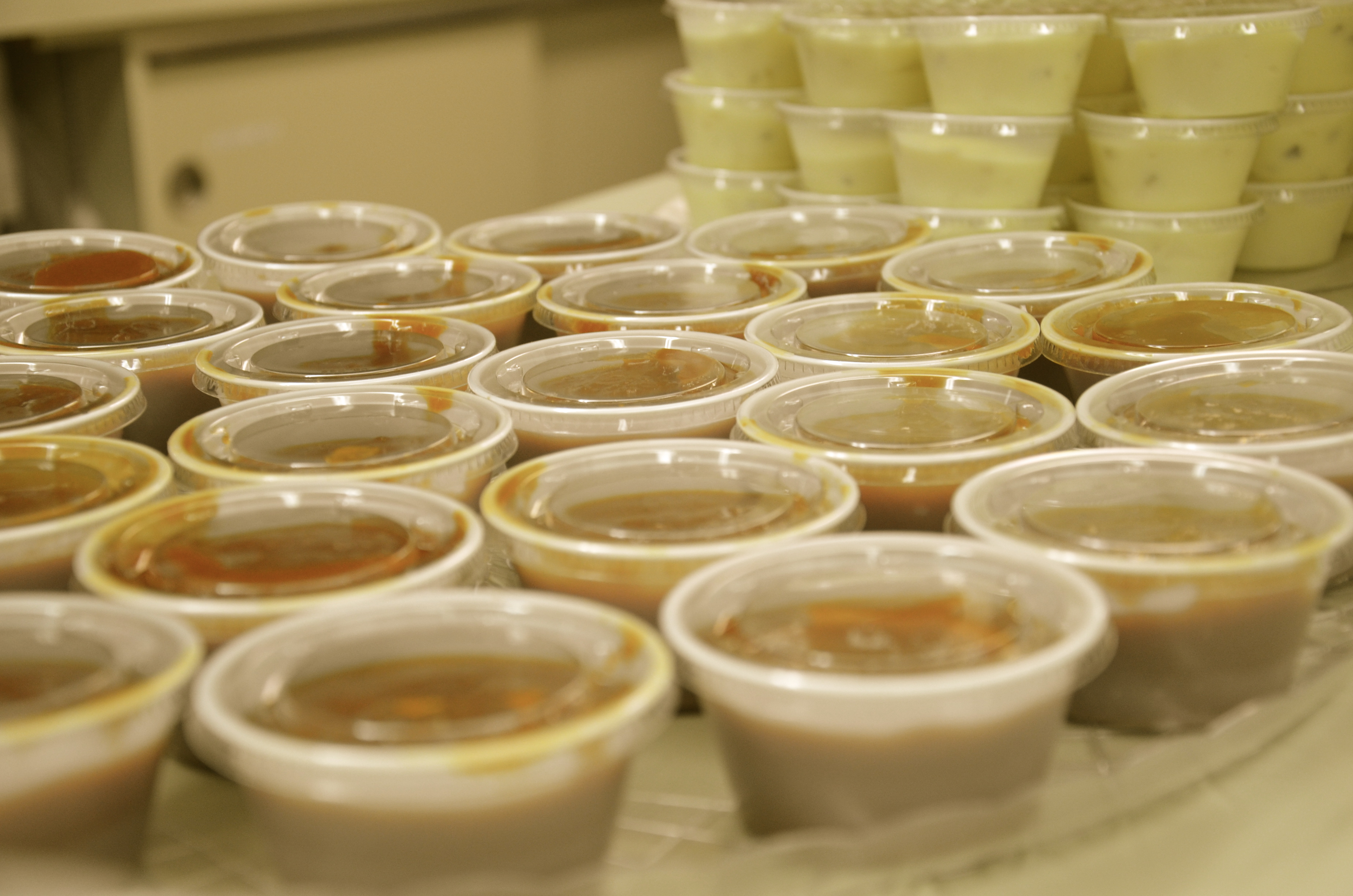 "sauce for shrimp ready for the ""to go"" orders"