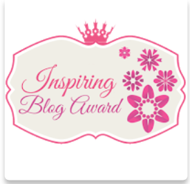 Inspiring Blog Award in all of it's glory!