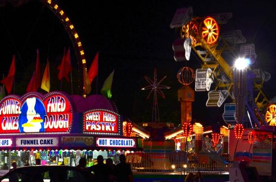 A carnival is so enchanting at night!