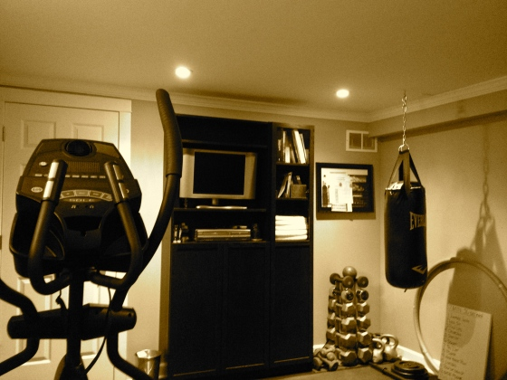 The workout room...