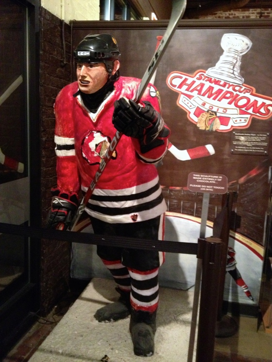 Go Blackhawks…made entirely of chocolate too!