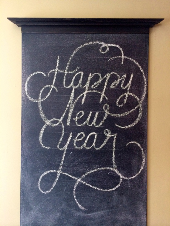 Last chalkboard entry for 2014!